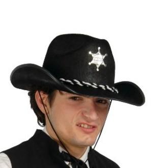 Klobouky - čepice - čelenky - Černý šerifský klobouk Mac c78943bf1c