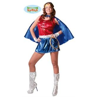 Kostýmy pro dospělé - Dámský kostým superhrdiny - supermanka
