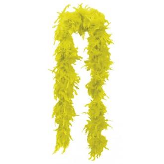Doplňky na karneval - Žluté boa