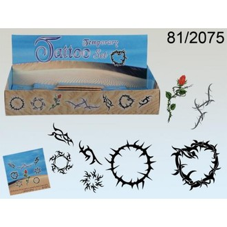 Doplňky na karneval - Tetování Trny 8 obrázků