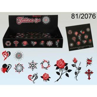 Doplňky na karneval - Tetování Dark Love 12 obrázků