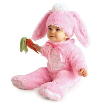 Kostýmy pro děti - Dětský kostým Králíček růžový