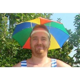 Klobouky - čepice - čelenky - Deštník na hlavu