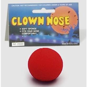 Doplňky na karneval - Molitanový klaunský nos červený