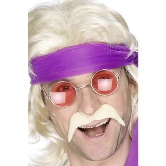 Doplňky na karneval - Knír 70. léta blond