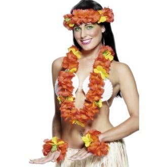 Doplňky na karneval - Havajská sada červená