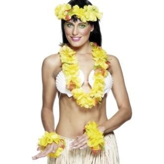 Doplňky na karneval - Havajská sada žlutá