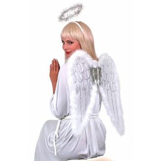 Doplňky na karneval - Sada Bílá křídla a svatozář