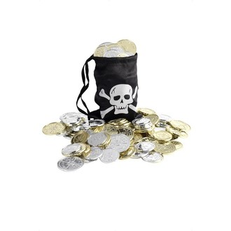 Doplňky na karneval - Pirátský měšec s mincemi