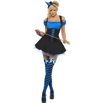 Čarodějnice - Kostým Sexy čarodějnice modrá