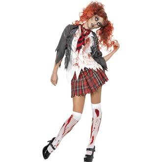 Halloween - Dámský kostým High School zombie školačka