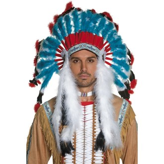 Doplňky na karneval - Indiánská čelenka Náčelník