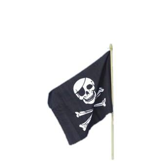 Doplňky na karneval - Pirátská vlajka 45x30 cm