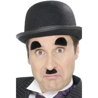 Doplňky na karneval - Knír a obočí Chaplin
