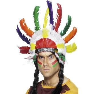 Doplňky na karneval - Indiánská čelenka Sedící býk