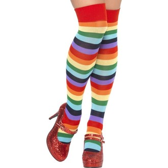 Doplňky na karneval - Podkolenky Klaun pruhované