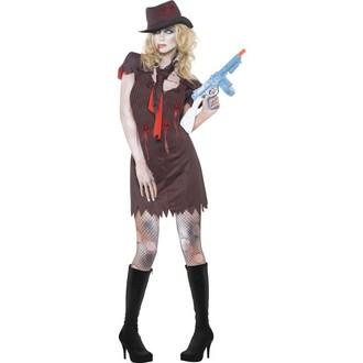 Halloween - Dámský kostým Zombie gangsterka