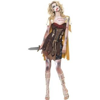 Halloween - Dámský kostým Zombie gladiátorka
