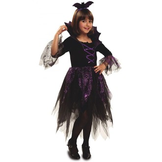 Kostýmy pro děti - Dětský kostým netopýří čarodějnice