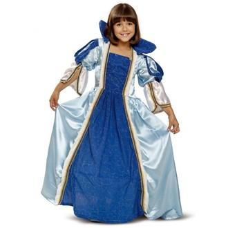Kostýmy pro děti - Dětský kostým Princezna - modré šaty královny