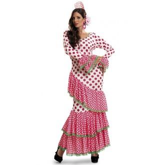 Kostýmy pro dospělé - Kostým Tanečnice flamenga červená