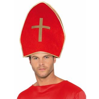 Čert - Mikuláš - Anděl - Mikulášská čepice červená
