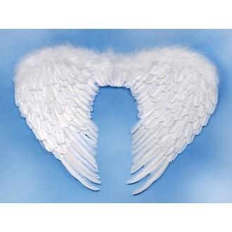 Čert - Mikuláš - Anděl - Péřová andělská křídla 80x55 cm