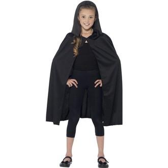 Kostýmy pro děti - Dětský plášť černý s kapucí