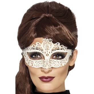 Masky - Škrabošky - Škraboška síťovaná bílá