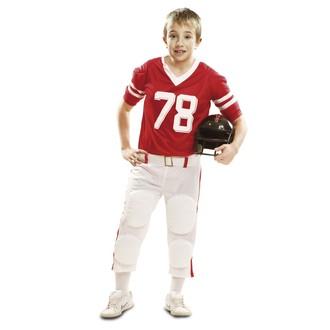 Kostýmy pro dospělé - Dětský kostým Hráč ragby červený