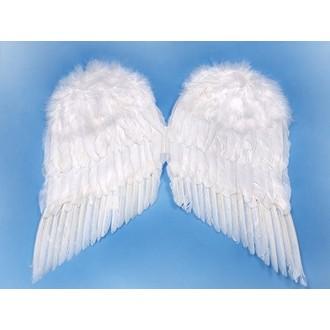 Čert - Mikuláš - Anděl - Péřová andělská křídla 55x45 cm