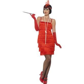 Kostýmy pro dospělé - Kostým Flapper krátké šaty charleston červené