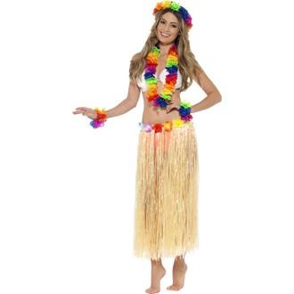 Havajské sukně - věnce - Havajská sada multi