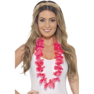 Havajské sukně - věnce - Havajský věnec růžový