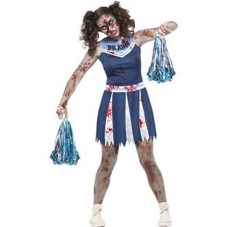 Halloween - Dámský kostým Zombie cheerleader