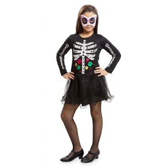 Halloween - Dětský kostým Kostlivka na halloween