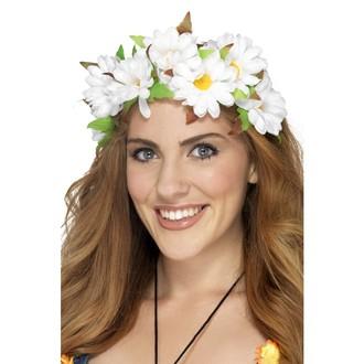 Doplňky na karneval - Čelenka s květinami