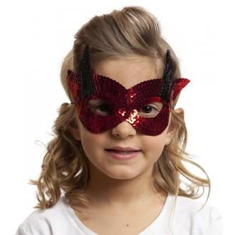 Masky - Škrabošky - Škraboška dětská čertík