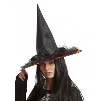 Čarodějnice - Klobouk Čarodějnice s kytkami