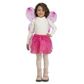 Kostýmy pro děti - Dětská sada Tmavě růžový motýlek