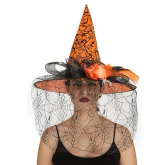 Čarodějnice - Klobouk Čarodějnice oranžový