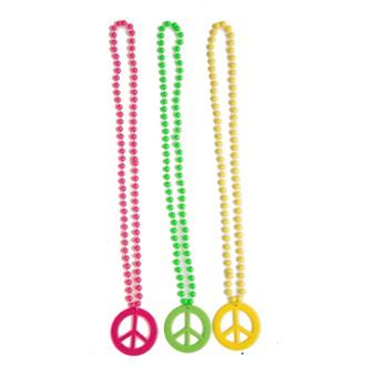 Doplňky na karneval - Barevné náhrdelníky hippies