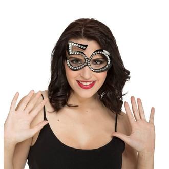 Doplňky na karneval - Brýle s kamínky 50