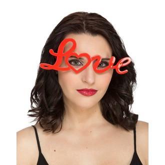 Doplňky na karneval - Brýle Love