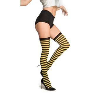 Doplňky na karneval - Punčochy pruhované černo žluté