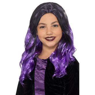 Čarodějnice - Dětská paruka Čarodějnice fialová