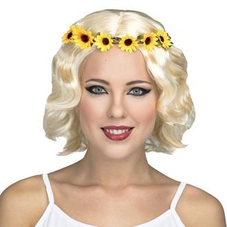 Paruky - Blonďatá paruka Hippie