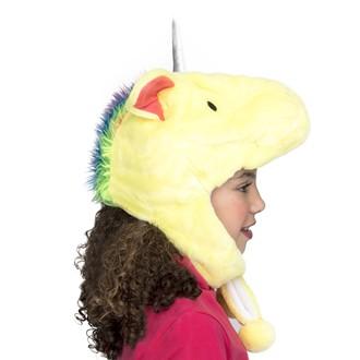 Klobouky - čepice - čelenky - Dětská čepice Jednorožec žlutý