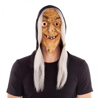 Masky - Škrabošky - Maska Čarodějnice s vlasy a kapucí