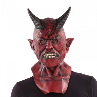 Čert - Mikuláš - Anděl - Maska s krkem Čert